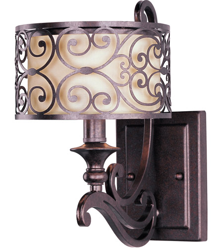 Maxim Lighting Mondrian 1 Light Wall Sconce in Umber Bronze 21152WHUB photo