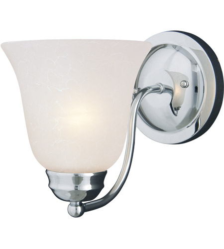 Maxim 2120ICPC Basix 1 Light 6 inch Polished Chrome Wall Sconce Wall Light in Ice photo