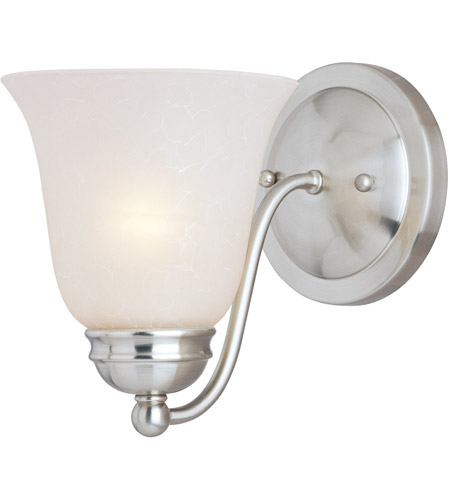 Maxim 2120ICSN Basix 1 Light 6 inch Satin Nickel Wall Sconce Wall Light in Ice photo thumbnail