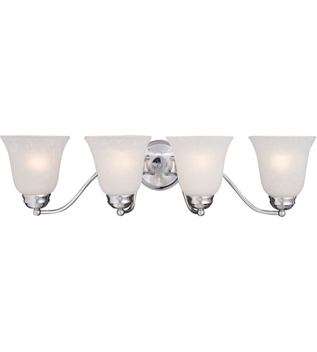 Maxim Lighting Basix 4 Light Bath Light in Polished Chrome 2123ICPC photo