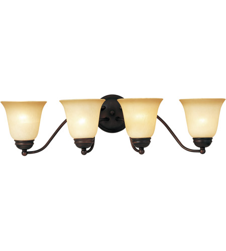 Maxim Lighting Basix 4 Light Bath Light in Oil Rubbed Bronze 2123WSOI photo