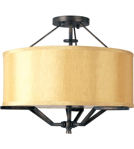 Maxim Lighting Avant 3 Light Semi Flush Mount in Golden Auburn 21251CHGA photo