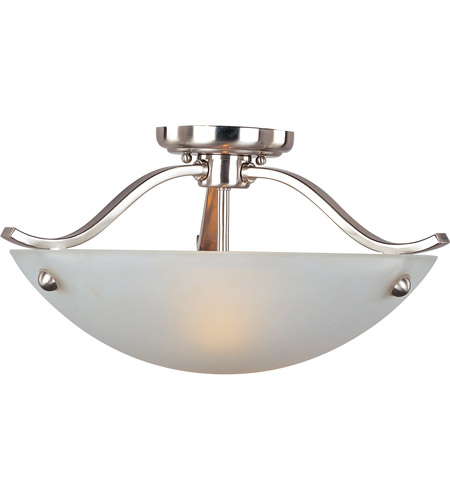 Maxim Lighting Contour 2 Light Semi Flush Mount in Satin Nickel 21261FTSN photo