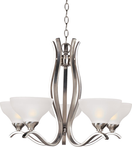 Maxim Lighting Contour 5 Light Single Tier Chandelier in Satin Nickel 21265FTSN photo