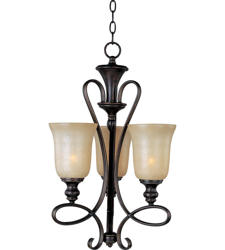 Maxim 21304WSOI Infinity 3 Light 16 inch Oil Rubbed Bronze Mini Chandelier Ceiling Light photo