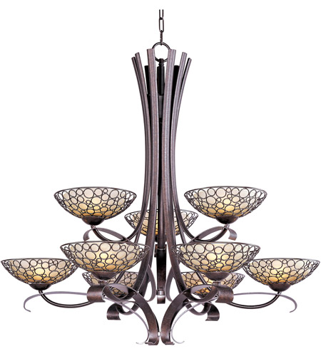 Maxim 21346DWUB Meridian 9 Light 40 inch Umber Bronze Multi-Tier Chandelier Ceiling Light photo