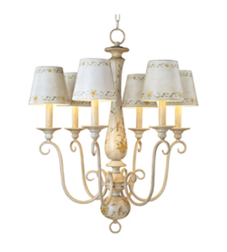 Maxim Lighting French Country 6 Light Single-Tier Chandelier in French Floral 21435CCFF photo