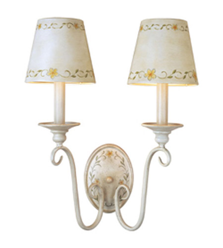 Maxim Lighting French Country Wall Sconce In French Floral