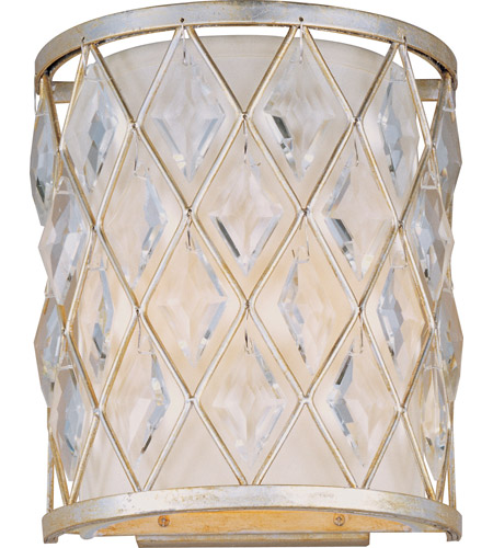 Maxim Lighting Diamond 2 Light Wall Sconce in Golden Silver 21458OFGS photo