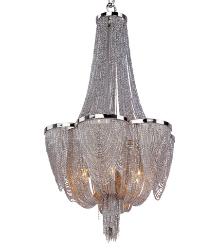 Maxim Polished Nickel Metal Chandeliers