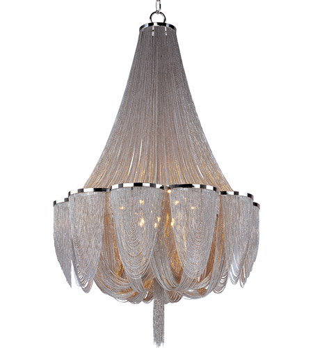 Maxim 21467NKPN Chantilly 14 Light 34 inch Polished Nickel Single Tier Chandelier Ceiling Light photo