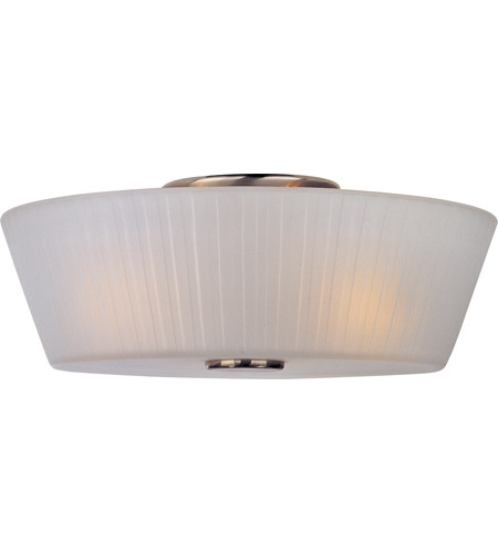 Maxim Lighting Finesse 3 Light Flush Mount in Satin Nickel 21500FTSN photo
