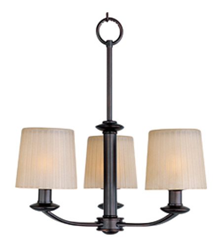 Maxim 21504DWOI Finesse 3 Light 19 inch Oil Rubbed Bronze Mini Chandelier Ceiling Light photo