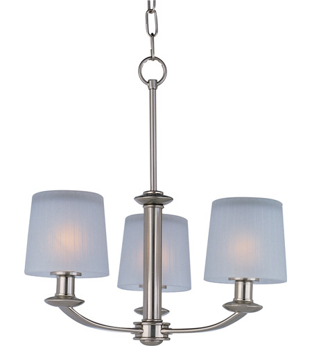Maxim 21504FTSN Finesse 3 Light 19 inch Satin Nickel Mini Chandelier Ceiling Light photo