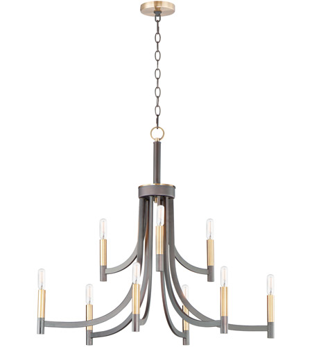 Maxim 21529BZAB Lyndon 9 Light 32 inch Bronze and Antique Brass Chandelier Ceiling Light photo