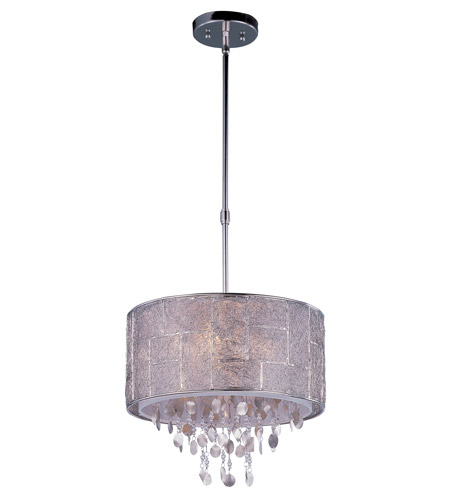 Allure 5 Light 16 Inch Polished Nickel Single Pendant Ceiling