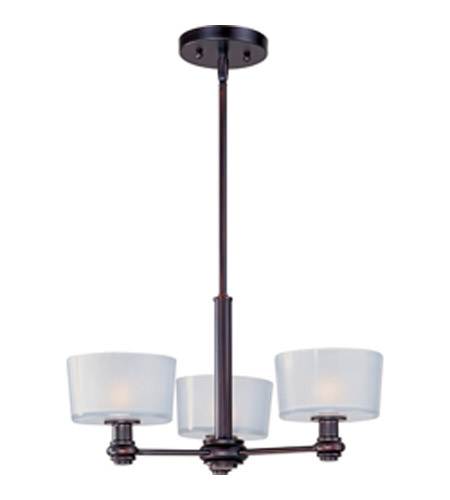 Maxim Lighting Discus 3 Light Mini Chandelier in Oil Rubbed Bronze 22164FTOI photo