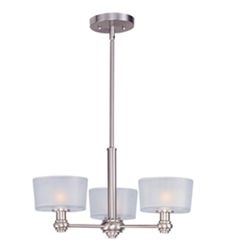 Maxim Lighting Discus 3 Light Mini Chandelier in Satin Nickel 22164FTSN photo