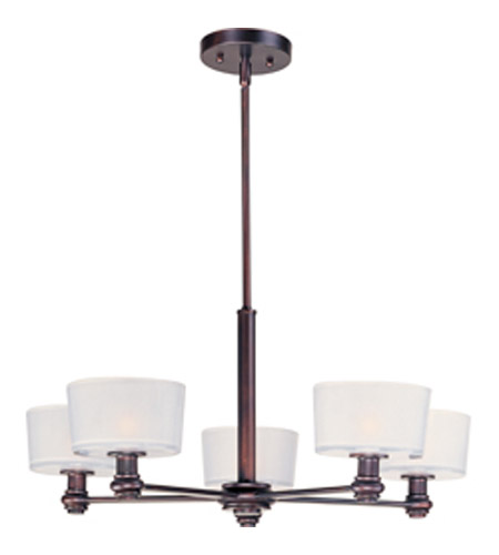 Maxim Lighting Discus 5 Light Multi-Tier Chandelier in Oil Rubbed Bronze 22165FTOI photo