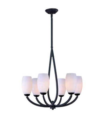 Maxim Lighting Elan 6 Light Single Tier Chandelier in Texture Ebony 22175SWTE photo