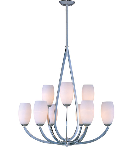 Maxim 22176SWPC Elan 9 Light 35 inch Polished Chrome Multi-Tier Chandelier Ceiling Light photo