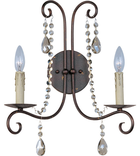 Maxim 22192UR Adriana 2 Light 14 inch Urban Rustic Wall Sconce Wall Light photo