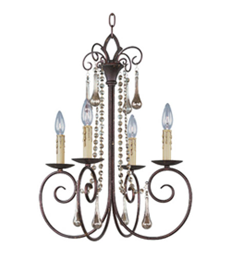 Maxim Lighting Adriana 4 Light Single Tier Chandelier in Urban Rustic 22204UR photo
