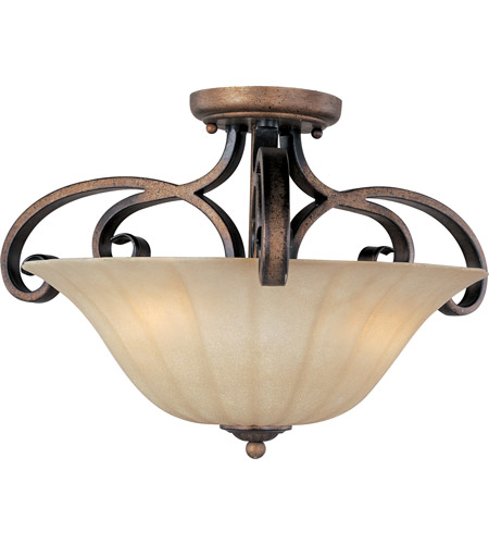 Maxim 22241WSPD Fremont 3 Light 21 inch Platinum Dusk Semi Flush Mount Ceiling Light photo