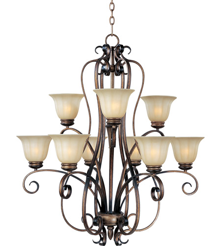 Maxim Lighting Fremont 9 Light Multi-Tier Chandelier in Platinum Dusk 22246WSPD photo