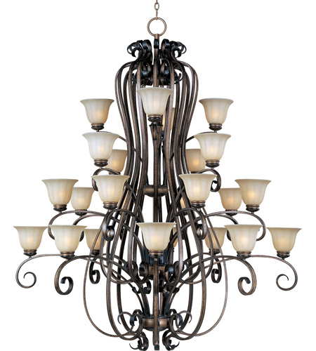 Maxim Lighting Fremont 24 Light Multi-Tier Chandelier in Platinum Dusk 22248WSPD photo