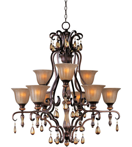 Maxim Lighting Dresden 9 Light Multi-Tier Chandelier in Filbert 22266EMFL photo