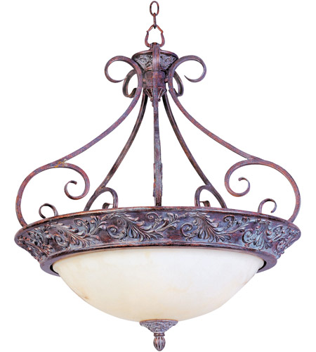 Maxim Lighting Apollo 4 Light Pendant in Greek Bronze 2227WHGB photo