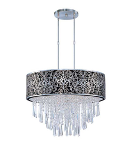 Maxim Lighting Rapture 9 Light Pendant In Satin Nickel 22295bksn