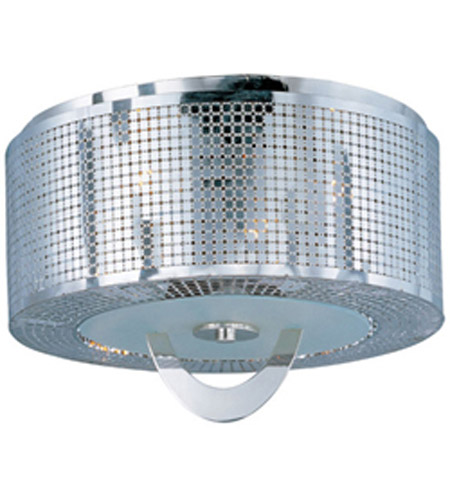 Maxim 22300PN Mirage 3 Light 16 inch Polished Nickel Flush Mount Ceiling Light photo