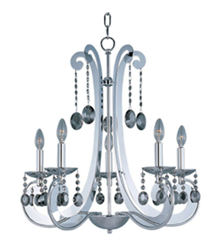 Maxim Lighting Cyclone 5 Light Single Tier Chandelier in Polished Chrome 22325PC photo