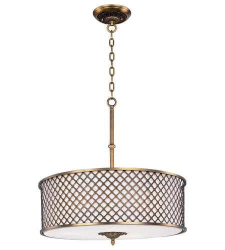 Maxim 22364OMNAB Manchester 6 Light 27 inch Natural Aged Brass Single Pendant Ceiling Light photo