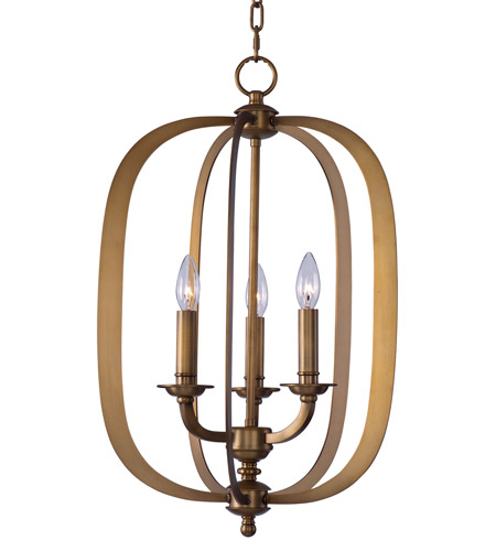 Maxim 22372NAB Fairmont 3 Light 16 inch Natural Aged Brass Pendant Ceiling Light photo