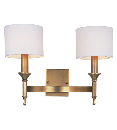 Maxim 22379OMNAB Fairmont 2 Light 18 Inch Natural Aged Brass Wall Sconce  Wall Light