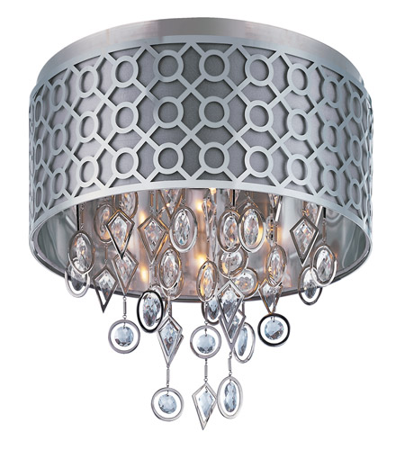 Maxim 22380STPN Symmetry 5 Light 21 inch Polished Nickel Flush Mount Ceiling Light photo