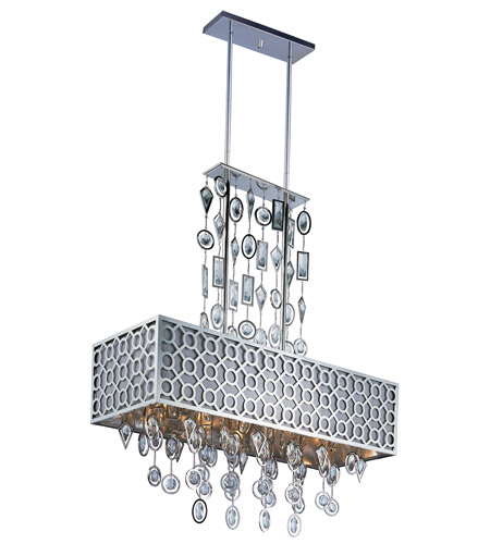 Maxim Lighting Symmetry 8 Light Island Pendant in Polished Nickel 22387STPN photo