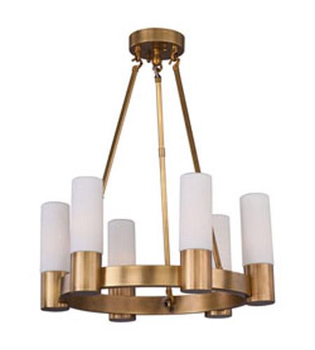 maxim lighting contessa 6 light chandelier in natural aged brass