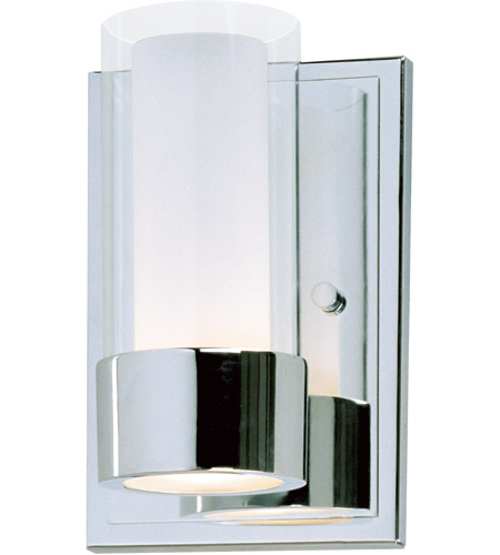Maxim Lighting Silo 1 Light Wall Sconce in Polished Chrome 23071CLFTPC photo