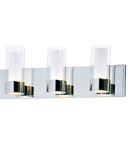 Maxim Lighting Silo 3 Light Bath Light in Polished Chrome 23073CLFTPC photo