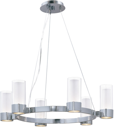 lighting 23077clftpc silo 6 light single tier chandelier in polished