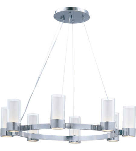 Maxim Lighting Silo 8 Light Single Tier Chandelier in Polished Chrome 23078CLFTPC photo
