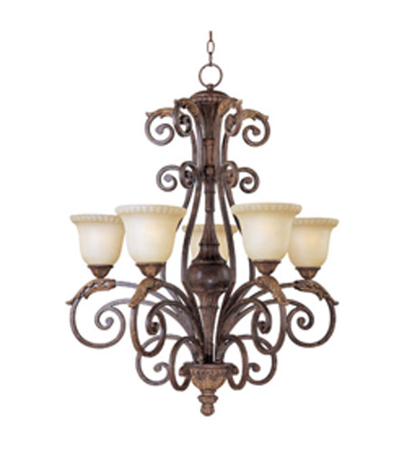Maxim Lighting Beaumont 5 Light Single Tier Chandelier in Golden Fawn 24105CFGF photo