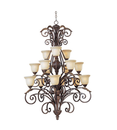 Maxim Lighting Beaumont 15 Light Multi-Tier Chandelier in Golden Fawn 24107CFGF photo