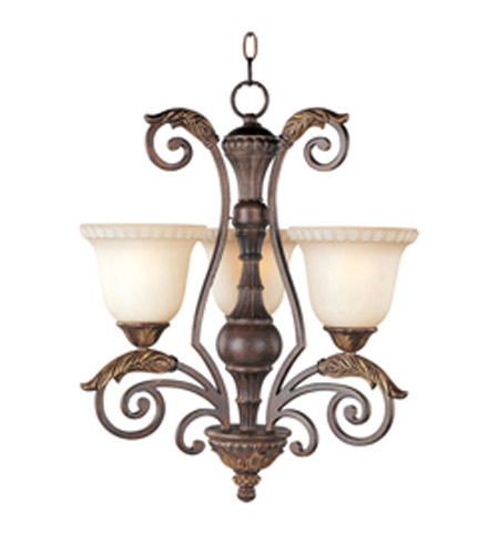 Maxim Lighting Beaumont 3 Light Mini Chandelier in Golden Fawn 24108CFGF photo
