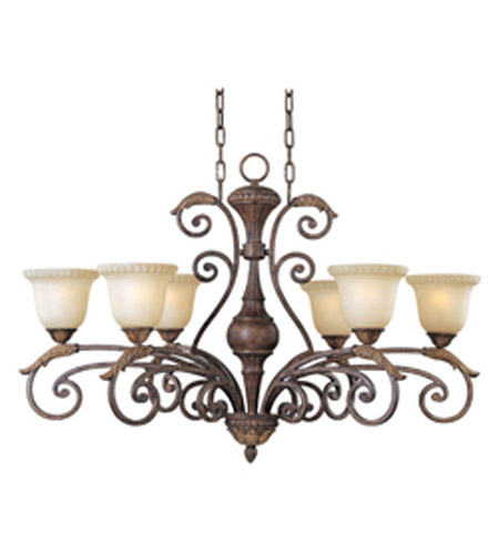 Maxim Lighting Beaumont 6 Light Single-Tier Chandelier in Golden Fawn 24109CFGF photo