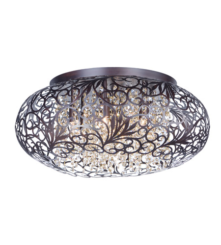 Maxim 24150cgoi Arabesque 7 Light 18 Inch Oil Rubbed Bronze Flush Mount Ceiling